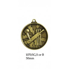 Cricket Medals 1070/1G,S or B - 50mm