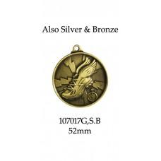 Athletics Medals 17017G,S,B - 52mm