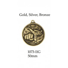 Martial Arts Medals 1073-11G, - 50mm