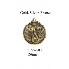 Cycling Medal 1073-14G - 50mm