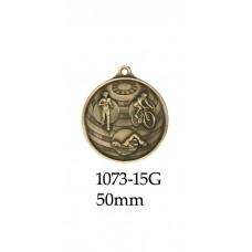 Triathlon Medal 1073-15G  S or B - 50mm
