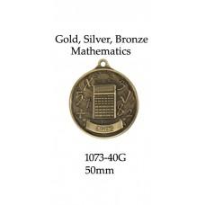 Knowledge Medals Mathematics 1073-40G - 50mm