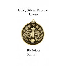 Chess  Medals Gold,Silver Bronze 1073-43G
