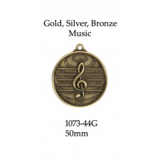 Music Medals 1070-Music-G, S or B -  50mm