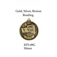 Knowledge Reading Medals 1073-49G - 50mm