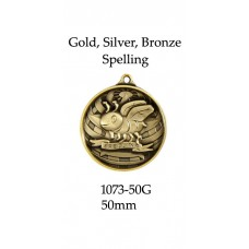 Knowledge Spelling Medals 1073-50G - 50mm