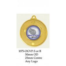 Baseball Softball Medals 1075-OGVP, S or B  - 50mm