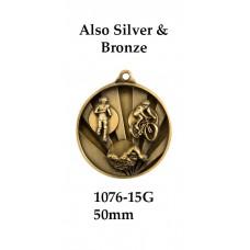 Triathlon Medal 1076-15G - 50mm