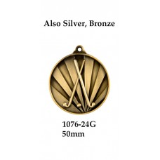 Hockey Medals 1076-24G, S or B - 50mm