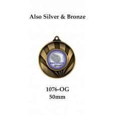 Tennis Medals 1076-OG - 50mm