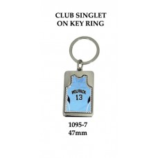 Key Ring Basketball Club Singlet 1095-7 - 47mm (Min 20)