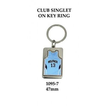 Key Ring Basketball Club Singlet 1095-7 - 47mm (Min 20)