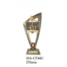 Music Trophies 10A - CF44G - 175mm Also 200mm & 230mm