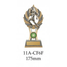 Rugby Trophies Female 11A-CF6F - 175mm Also 200mm & 230mm