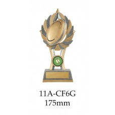 Rugby Trophies 11A-CF6G - 175mm Also 200mm & 230mm