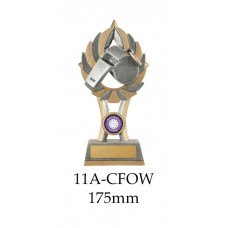 Netball Trophies Whistle11A-CFOW - 175mm