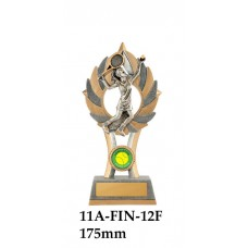Tennis Trophies  Female 11A-FIN-12F - 175mm Also 200mm & 225mm