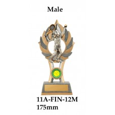Tennis Trophies Male 11A-FIN-12M - 175mm Also 200mm & 230mm