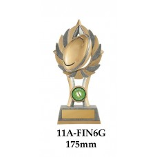 Rugby Trophies 11A-FIN6G - 175mm Also 200mm & 2225mm