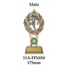 Rugby Trophies 11A-FIN6M - 175mm Also 200mm & 230mm