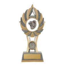 Novelty Trophies Dog Jumping 11A-Fin72G - 175mm