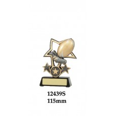 Rugby Trophies 12439S - 115mm Also 135mm & 155mm