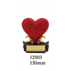 Novelty Trophy - Heart Award - 12503- 130mm