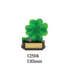 Novelty Trophy - 12504 - Four Leaf Clover Award - 130mm