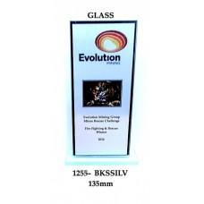 Corporate Awards Glass 1255-1BKSSilv - 135mm