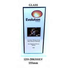 Corporate Awards Glass 1255-2BKSSilv - 155mm
