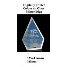 Corporate Awards Digitally Printed Glass Arrow 1256-1 - 160mm (Min 20)