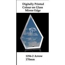 Corporate Awards Digitally Printed Glass Arrow 1256-2 - 170mm (Min 20)