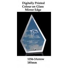 Corporate Awards Digitally Printed Glass Arrow 1256-3 - 185mm (Min 20)