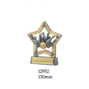 Ten Pin Bowling Trophies 12952 - 130mm