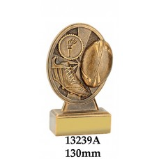 Rugby Trophies 13239A - 130mm Also 155mm
