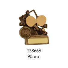 Table Tennis Trophies 13866S - 90mm Also 110mm