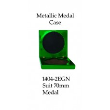 Medals Case Metallic Green - 1404/2EGN - 92mm x 92mm suit 70mm Medal