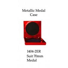 Medals Case Metallic Red - 1404/2ER - 92mm x 92mm suit 70mm Medal