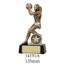 Netball Trophies 14191A - 135mm Also 165mm