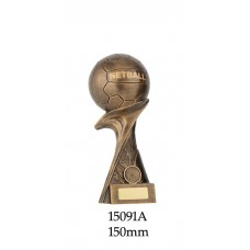 Netball Trophies 15091A - 150mm Also 245mm 225mm 200mm & 180mm