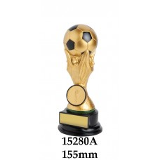 Soccer Trophies 15280A - 155mm Also 180mm 260mm & 350mm