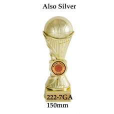 Basketball Trophies 222-7GA - 150mm Also 180mm & 200mm