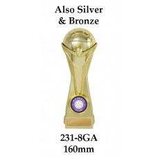 Netball Trophies 231-8GA - 160mm Also 190mm