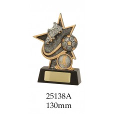 Soccer Trophies 25138A - 130mm Also 155mm & 180mm