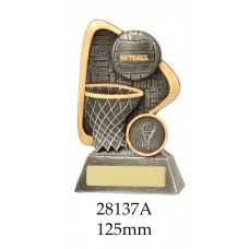 Netball Trophies 28137A - 125mm Also 28137B