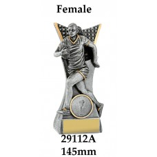 Rugby Trophies Female 29112A - 145mm Also 165mm 185mm 240mm 290mm & 375mm