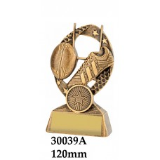 Rugby Trophies 29339A - 125mm Also 150mm & 175mm