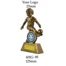 Soccer Trophies Female 601G-9F - 125mm