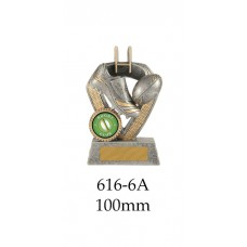 Rugby Trophies 616-6A - 100mm Also 120mm & 140mm