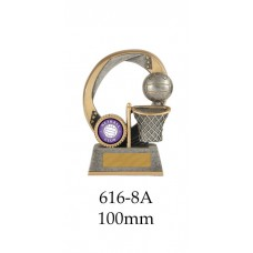 Netball Trophies 616-8A - 100mm Also 120mm & 140mm